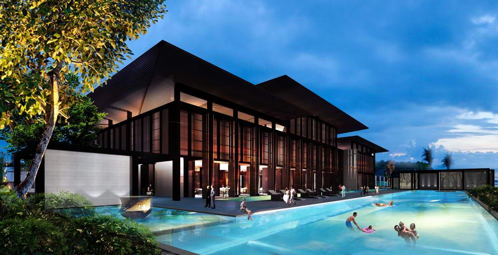 打造一个现代东南亚风格的滨海风景售楼部